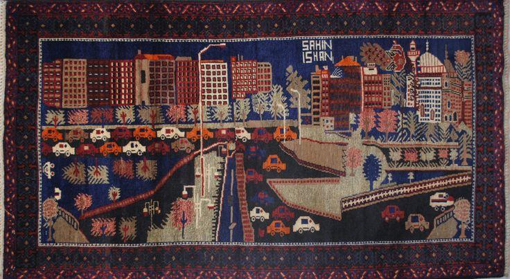 Handmade Woolen Carpet BELUTCH 0,87x 1,45 cm | ioakeimidis