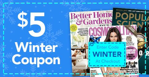 Get $5 off select magazine subscriptions for the whole family, including Cosmopolitan, ESPN The Magazine, The Economist, Highlights and more!