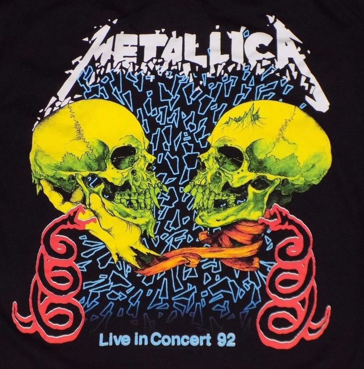 Metallica Live In Concert 1992 Pushead Black T Shirt Heavy Metal Reprint Skulls #rockme #GraphicTee