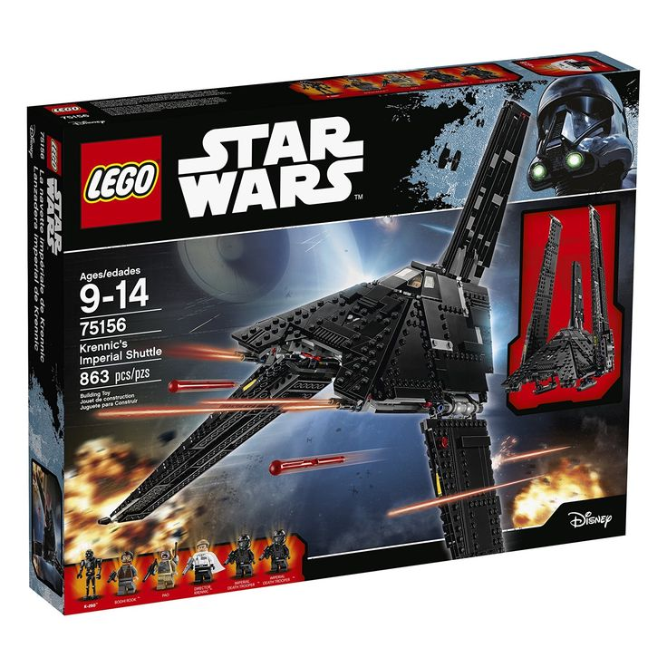 Amazon.com: LEGO STAR WARS Krennic's Imperial Shuttle 75156: Toys & Games