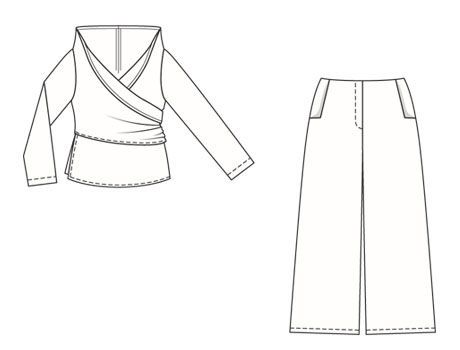 Блуза - выкройка № 132 B из журнала 5/2007 Burda – выкройки блузок на Burdastyle.ru