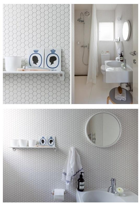 should have hexagon tiles for master bathroom  I like white ones too. 1000  ideas about White Hexagonal Tile on Pinterest   Hexagon