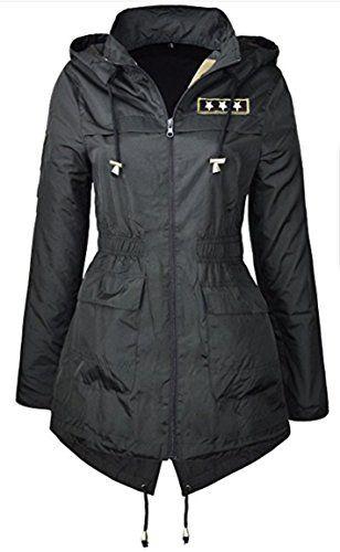 NEW PLUS SIZE RAIN MAC Ladies PARKA Womens Festival RAINCOAT Size 8 - 24 ravL (20, BLACK). UK raincoat. Women raincoat. It's an Amazon affiliate link.