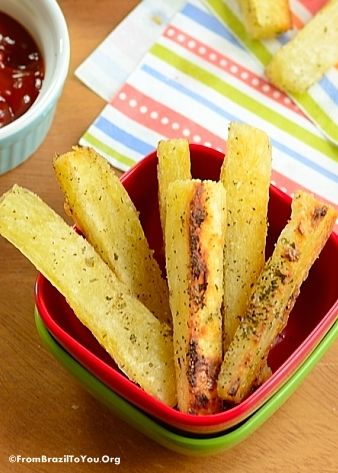 Healthy Yucca Fries -- These are baked and quick to prepare... Loaded with flavor