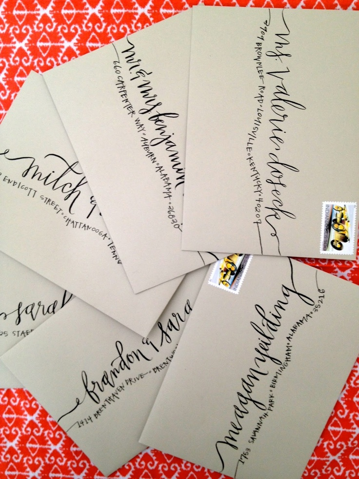 Hardink Calligraphy: Engagement Party envelope