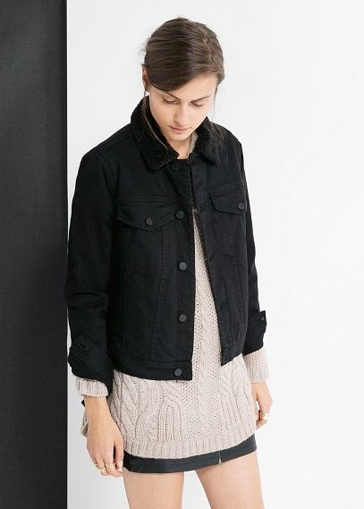 Wattierte jeansjacke - Jacken für Damen | OUTLET