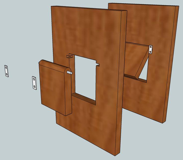 Cat Door In Cabinet Door More