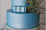 A DESIGNER TEAL BLUE CAKE INSPIRED BY SEX IN THE CITY!