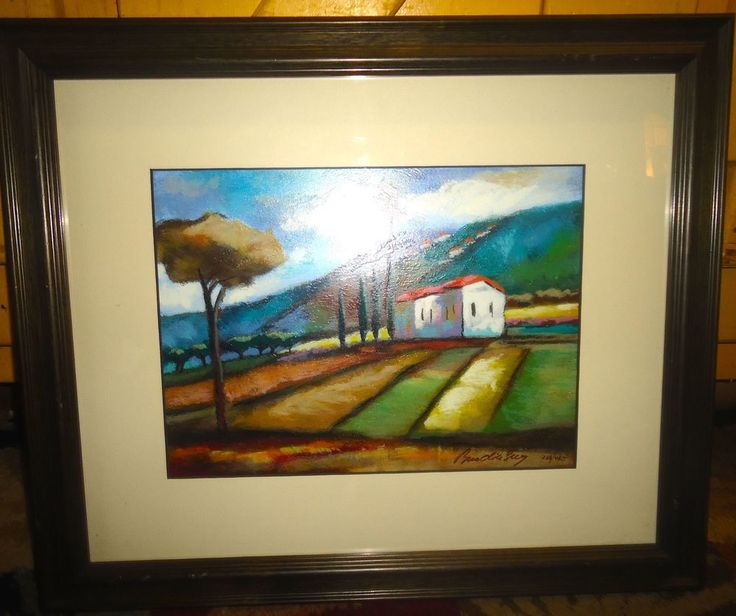 Limited Edition Serigraph Print Framed Matted Under Glass Landscape Signed No 2 #Expressionism
