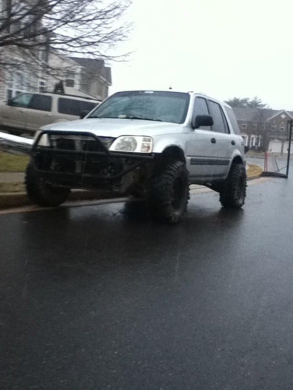 Lifted Honda CRV 1st Generation with custom bumper # ...
