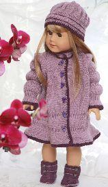 DollKnittingPatterns - 0093D Melinda - Dress, Hat, Pants and Shoes