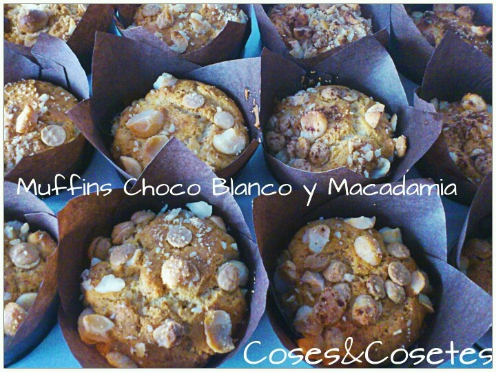 #muffins #nuezmacadamia y #chocolate #blanco #9propoints #entulines de #weightwatchers delicius!!: Chocolate Blanco