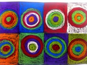 """"""" Kandinsky Circles for Kids"""" is a great art lesson to use to for learning out abstract art. Wassily Kandinsky create several abstract paintings using bold colors and repeated circles. You can watch the video here at http://artlessonplanvideos.com To receive quality art lessons demonstrated in a tutorial format, sign up and become a member of Art Lesson Plan Videos."""