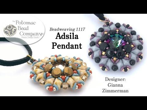 Adsila Pendant (Tutorial) - YouTube, supplies from Potomac Bead Company…