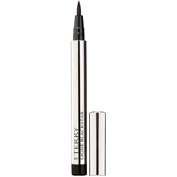 By Terry Ligne Blackstar Intense Liquid Eyeliner ($43) ❤ liked on Polyvore featuring beauty products, makeup, eye makeup, eyeliner, beauty, liquid eyeliner, liquid eye-liner, by terry, liquid eye liner and smudge proof eyeliner