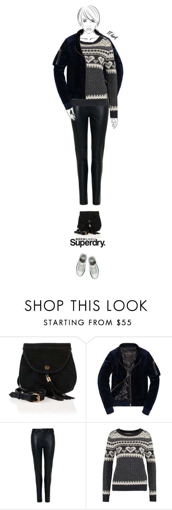 """""""Casual outfit: Black - White [Contest Entry]"""" by downtownblues ❤ liked on Polyvore featuring Superdry"""