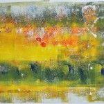 Blokprint in geel