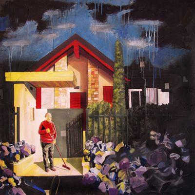 GaeTano and Valentina, INTERNO 17, © 2013, acrilico su tela, 120 x 120 cm.  #pittura #art #painting #arts #GaeTanoAndValentina #AcrylicOnCanvas #scenographTwoArt #SCENOGRAPH2ART #GaeTanoeValentina #visualart #canvas #sem #acrylic #peinture #ceruleo #dipinti #monza #italy