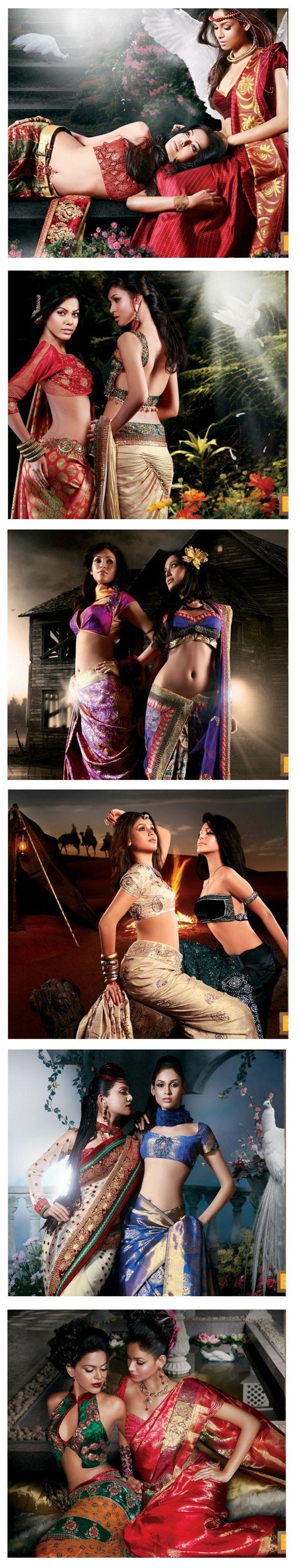 Beautiful #Saree-s on Kalamandir's http://kalamandir.com/ 2010 Calender