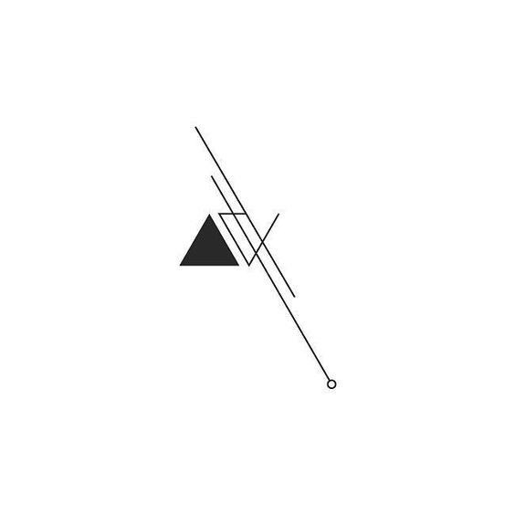 Tattoo • Triangle & Lines • Drawing •
