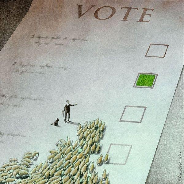 Vota.. que conste que no estoy de acuerdo con la imagen. Votar es un privilegio. NO obstante la imagen es relevante