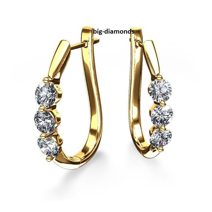 0.30Cts Beautiful Diamond Earring Studs 14k  #Stud