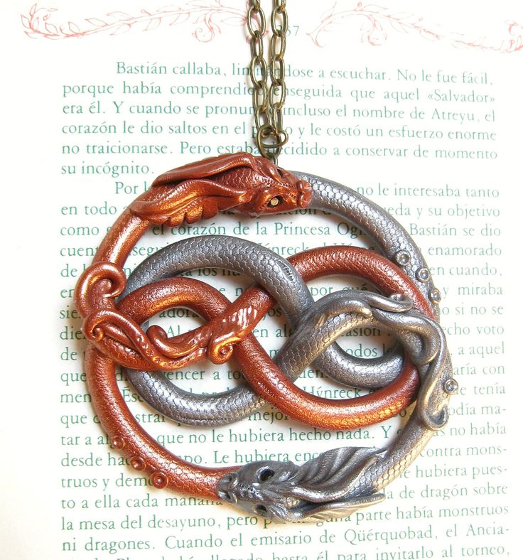 auryn necklace replica neverending story | Auryn. Fuljur dragon necklace. The neverending story the auryn ...