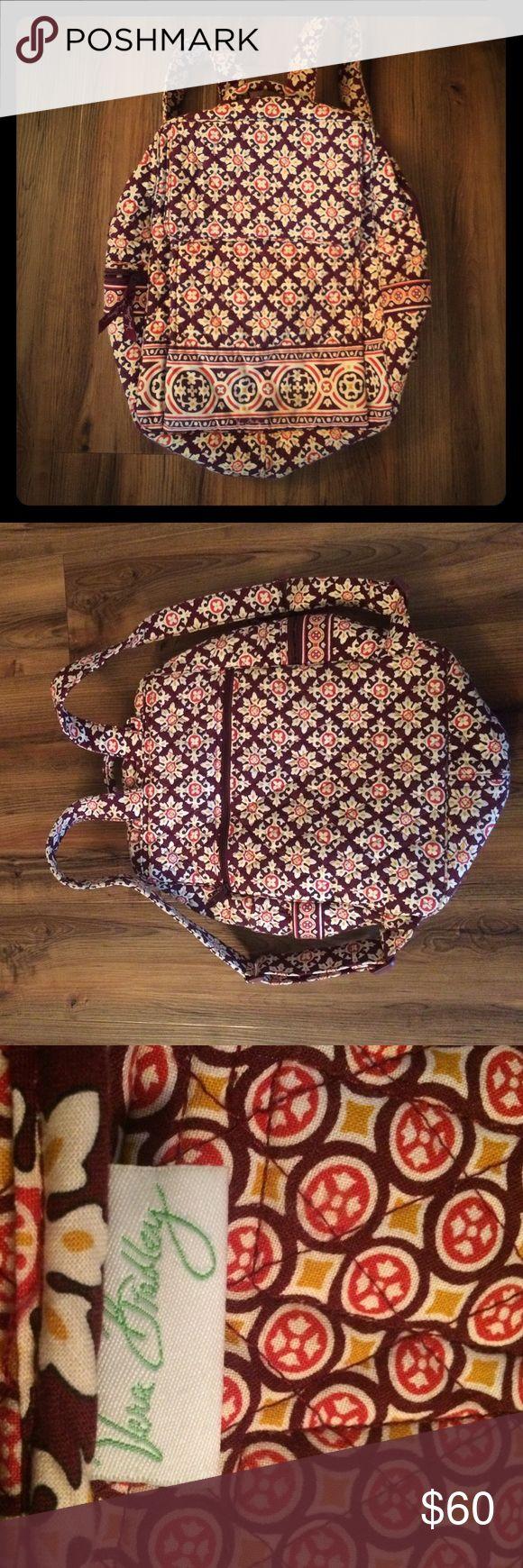 Vera Bradley Medallion Backpack Quilted backpack. Many pockets. No wear or damage. Vera Bradley Bags Backpacks