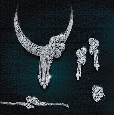 Rosy Blue - Diamond Jewellery Collection displayed at Dubai International Jewellery Week December 2013