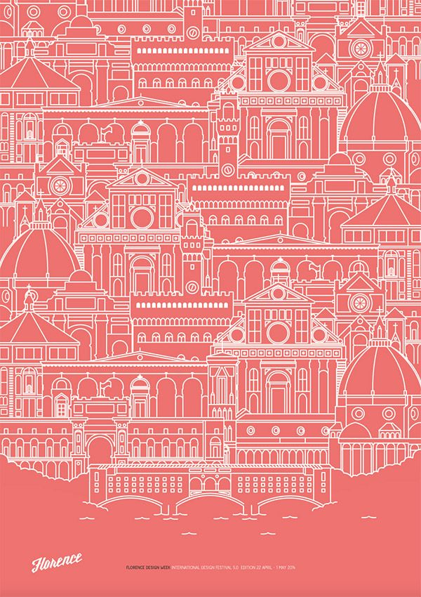 Showcase of Stylish Single Weight Line Art Illustrations Florence Design Week by Rafa San Emeterio