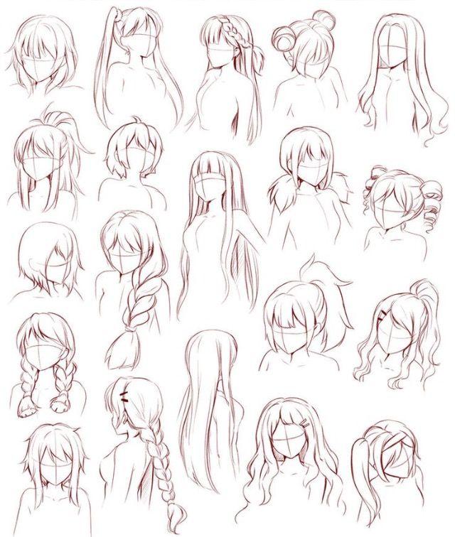 Pin By Megan Dawson On Sketches Drawings Coloring Anime Drawings Sketches How To Draw Anime Hair Manga Hair