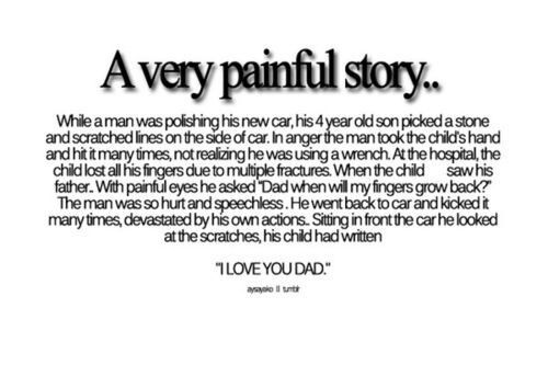 **FAIR WARNING THIS IS SAD! ** Anyone want me to post some sad short stories I found? Xx