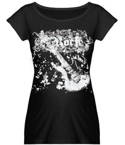 T-shirt de grossesse original, Rock Mamma #cadeaufemmeenceinte #babyshowerrock #gaspardetzoe