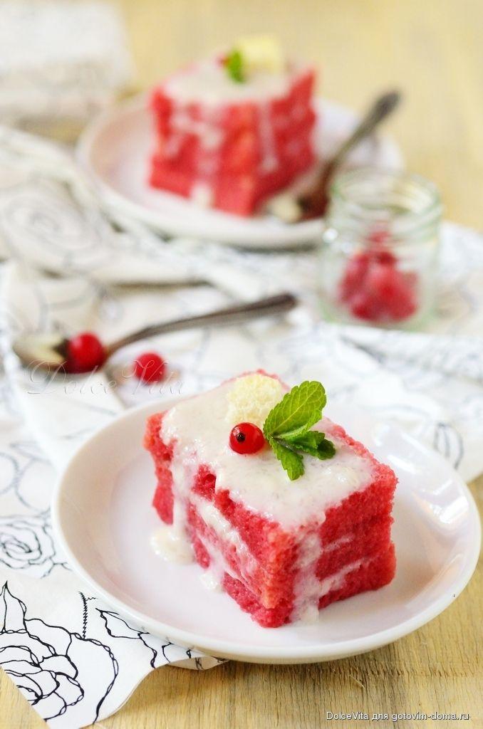 Рецепт: Клюквенное пирожное