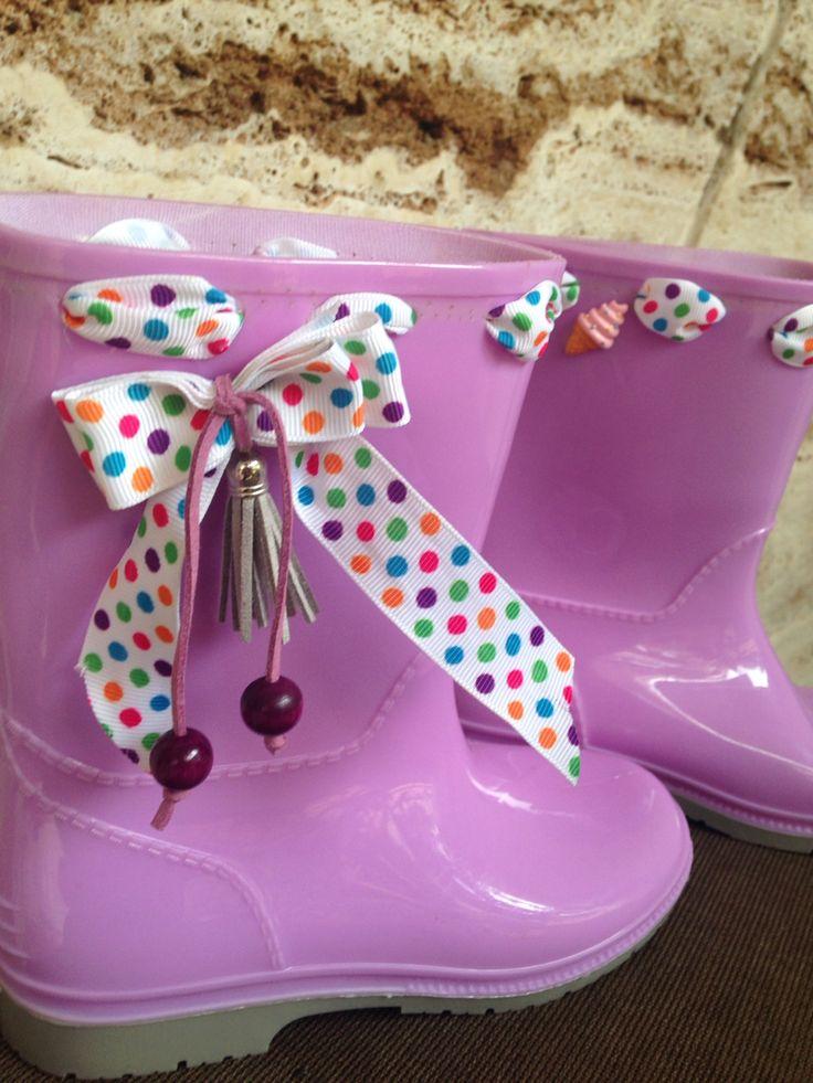 Kids' rain boots handmade