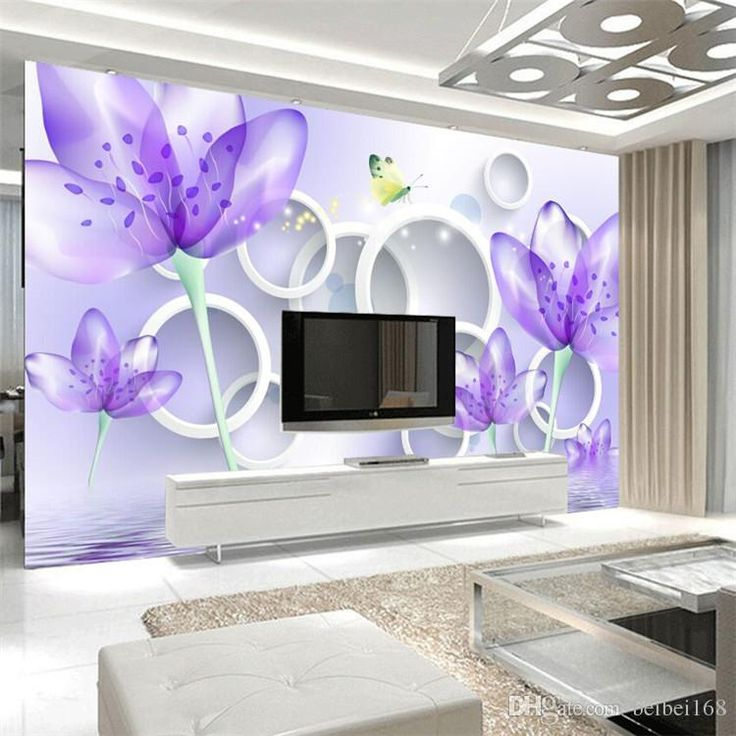 Photo Customize Size 3D Purple Warm Flowers TV Wall Mural 3d Wallpaper 3d Wall Papers For Tv Backdrop Hd Wallpaper Backgrounds Hd Wallpaper F From Catherine198809100, $16.59| DHgate.Com
