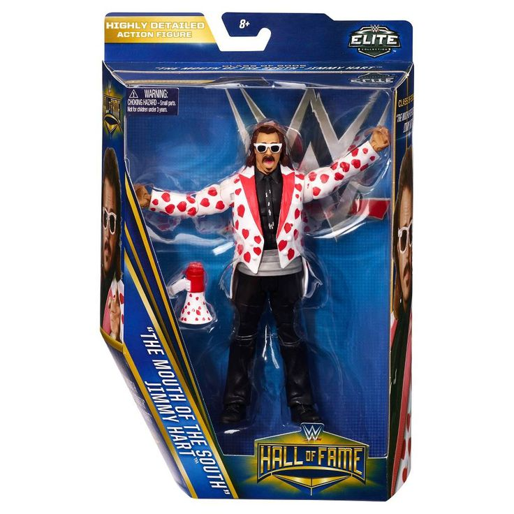WWE Hall of Fame Elite Collection Jimmy Hart Figure. Image 4 of 4.