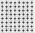 Saying the direction of the arrows can improve visual spatial relationships.