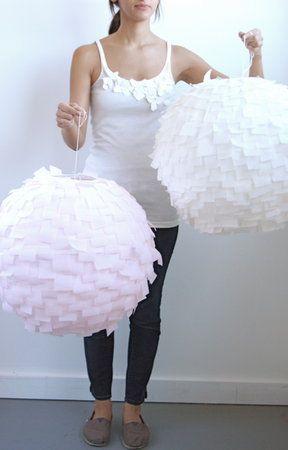 Modern Crepe Paper Lanterns DIY: Pretty, easy and inexpensvie!