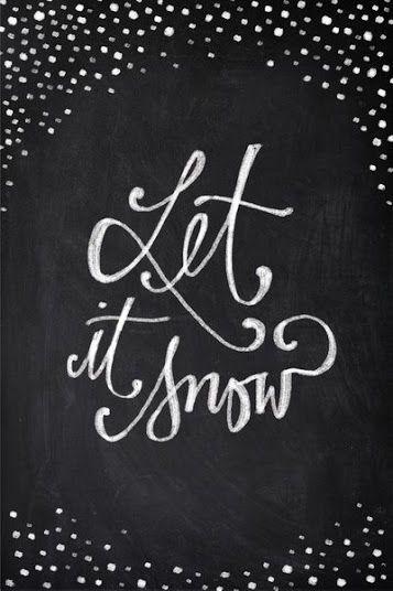 Let it snow - chalkboard