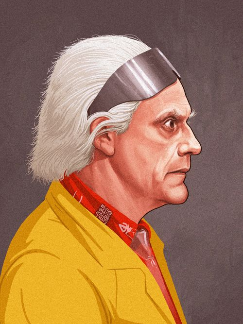 Dr Emmett Brown - The Art Of Mike Mitchell
