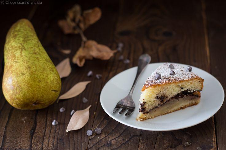 Torta+soffice+pere+e+cioccolato