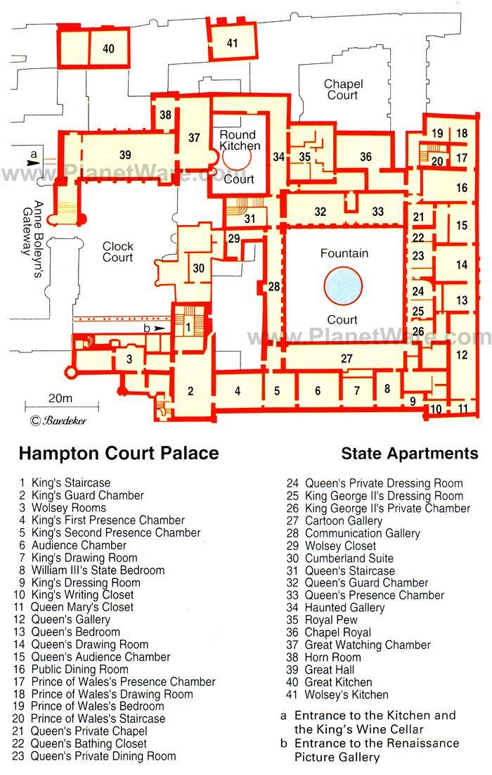 Floorplan of Hampton Court Palace... very interesting to see