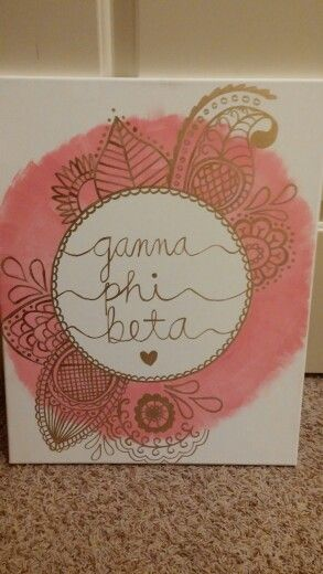 Gamma phi beta sorority canvas