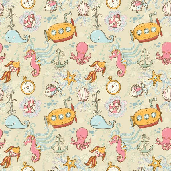Create A Summer Underwater Seamless Pattern In Adobe Illustrator Interesting How To Make A Seamless Pattern In Photoshop