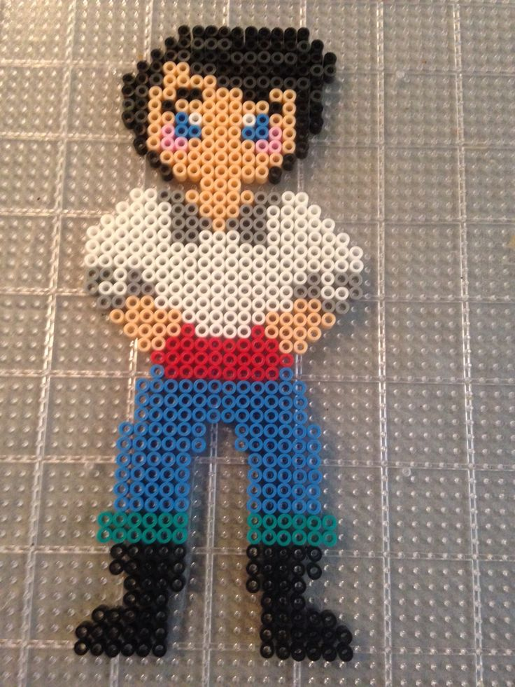 Disneys prince Eric from the little mermaid perler bead