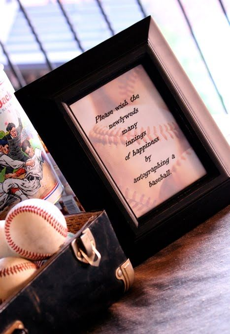 sign baseballs instead of a guestbook  Vintage Baseball Themed Wedding Cake & Sweets Table - Dreamers Into Doers -- marthastewart.comVintage Baseball, Guestbook Ideas, Guest Books, Baseball Themed Weddings, Guest Autograph, Baseball Bats, Parties Ideas, Guestbook Vintage, Blog
