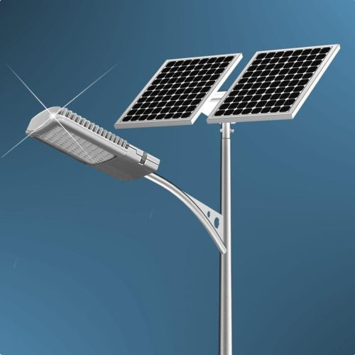 Outdoor Garden 40W Solar Powered Street Light Dock Courtyard Driveway Security | eBay