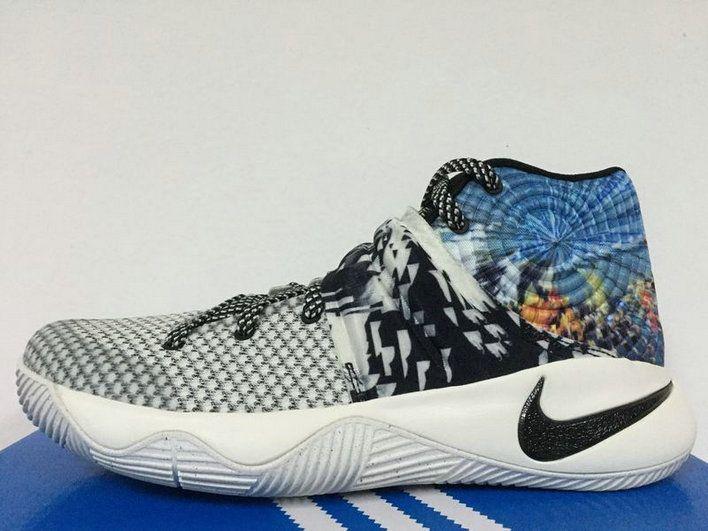 free shipping e99f4 f0bdf 2018 Genuine Nike Kyrie 2 Wolf Grey Cool Grey Blue Lagoon ...