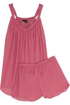 Donna Karan Sleepwear Satin-crepe pajama set | NET-A-PORTER
